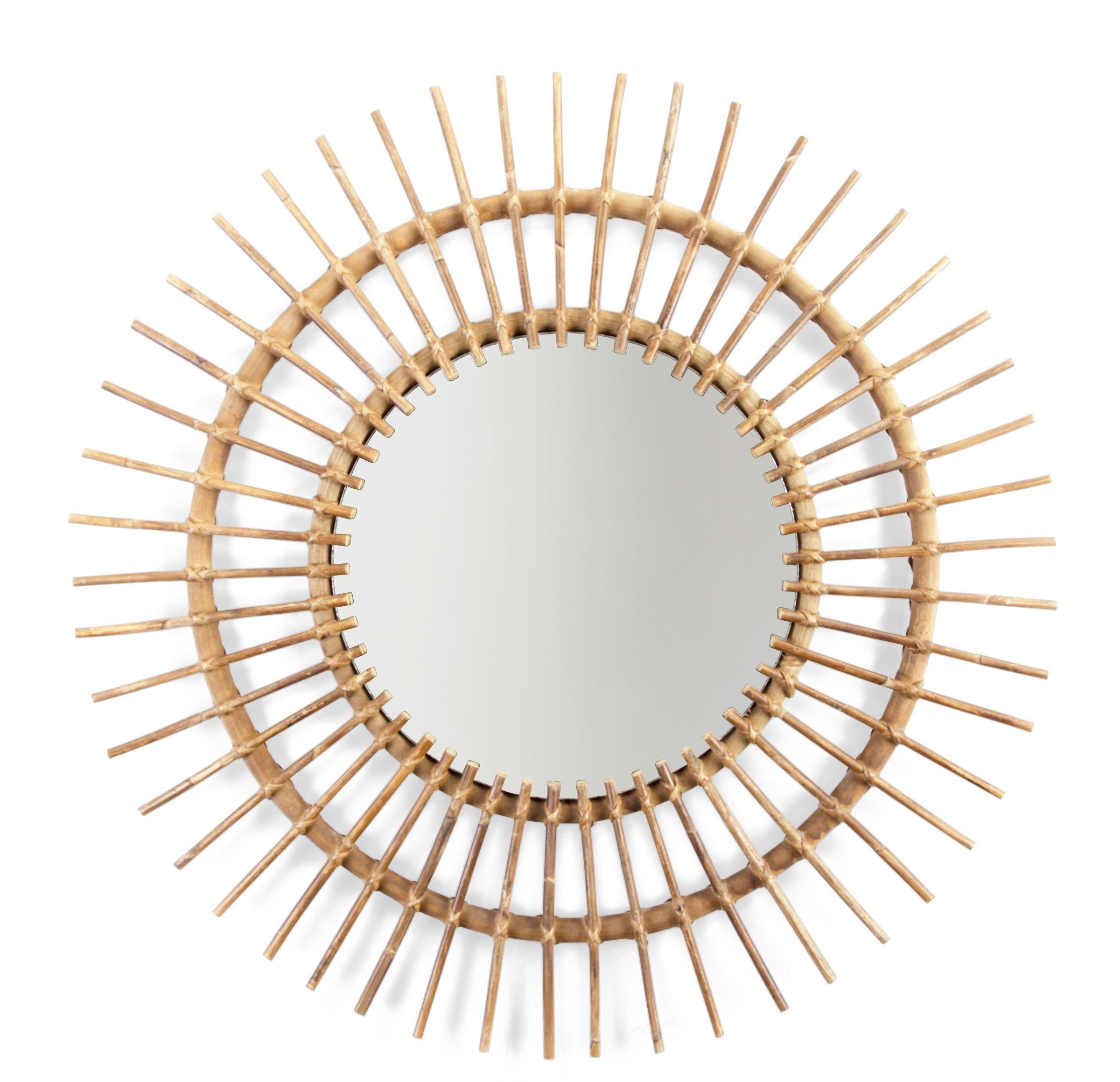 Miroir Rotin Aura